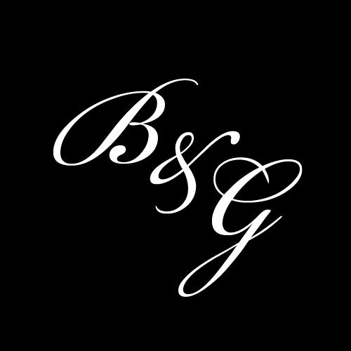 G2909 Beautiful Initials B&W Glass Gobo