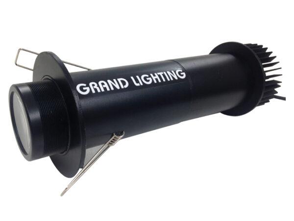 gl10c4 downlight fixture in black