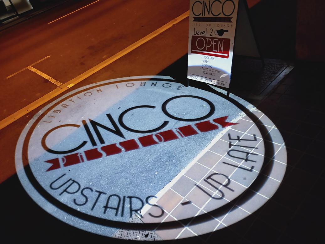CINCO projection onto footpath