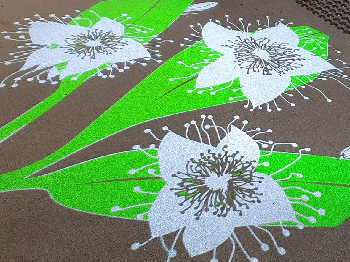 flower gobo footpath projection