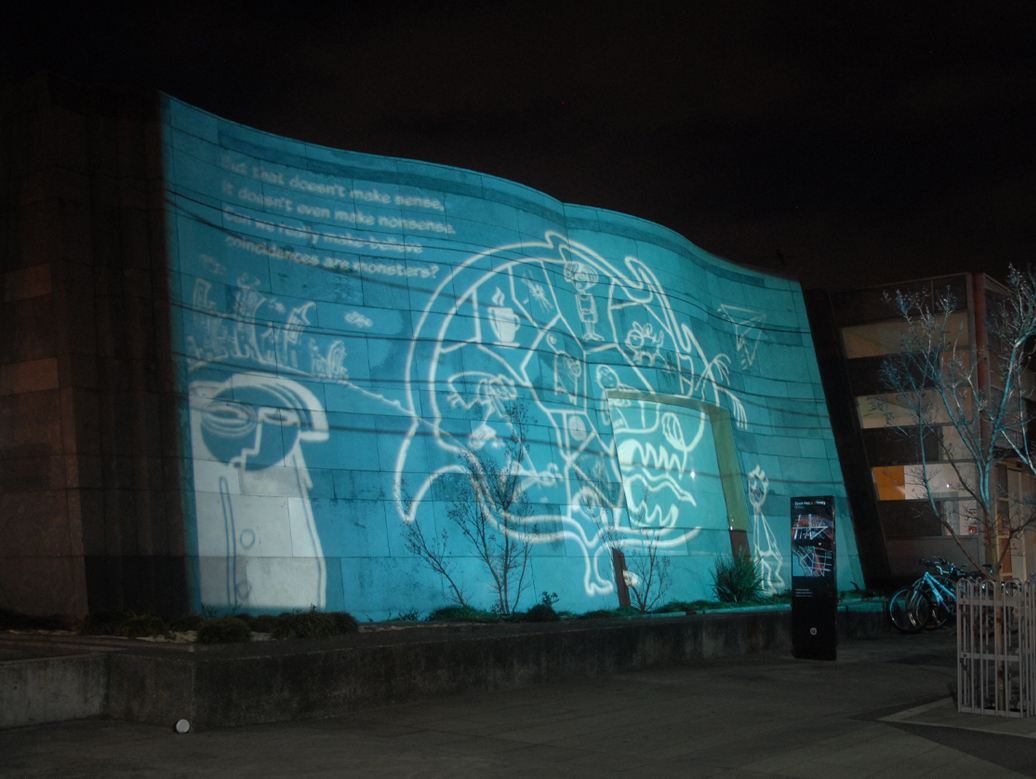 The make believe project spot colour gobo projection