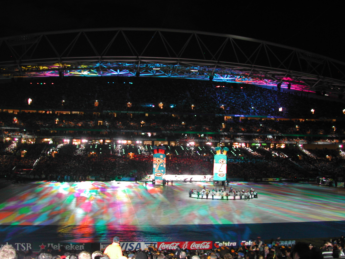 Multicoloured Kaleidoscope gobo for Rugby World Cup
