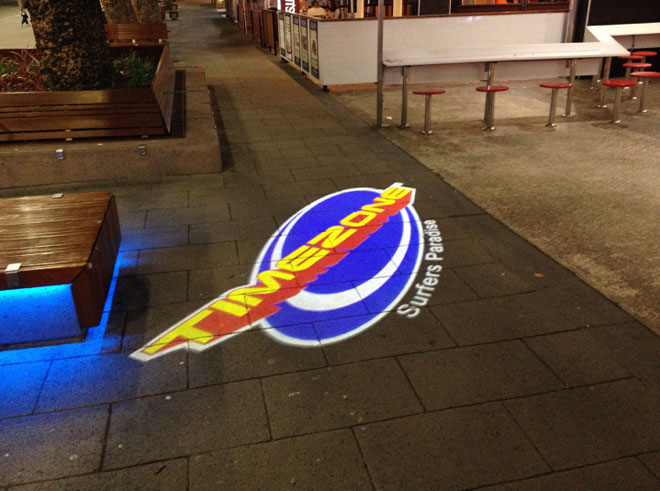 Timezone full colour footpath projection