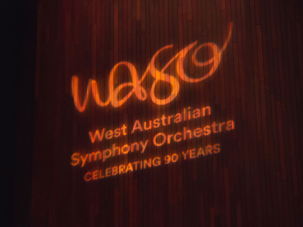 West Australian Symphony Orchestra gobo projection